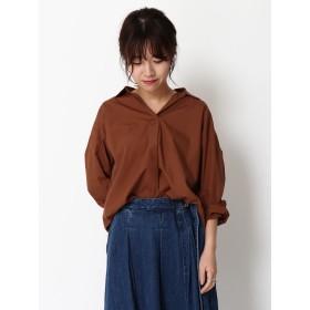 【5,000円以上お買物で送料無料】・スキッパーシャツ