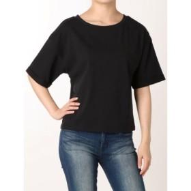 (RESEXXY/リゼクシー)ロールアップスリーブTシャツ/レディース ブラック