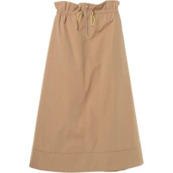 【6,000円(税込)以上のお買物で全国送料無料。】ドローコードフロントZIPフレアスカート