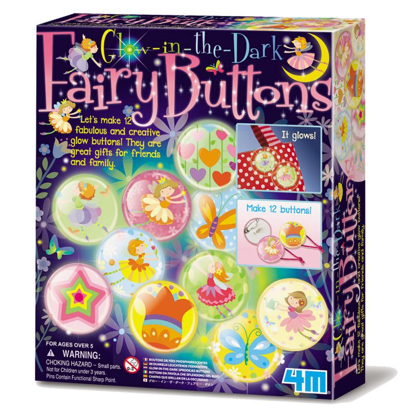 【4M】04612 美勞創作系列-花精靈夜光徽章 Glow-In-The-Dark Fairy Buttons