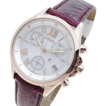 シチズン CITIZEN 腕時計 レディース FB1405-07A クロスシー XC 電波時計 ホワイト ワインレッド 国内正規品