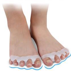 JHS杰恆社矽膠拇外翻分趾器五指分離器腳趾固定器大腳骨美形重疊腳趾護abe24 預購