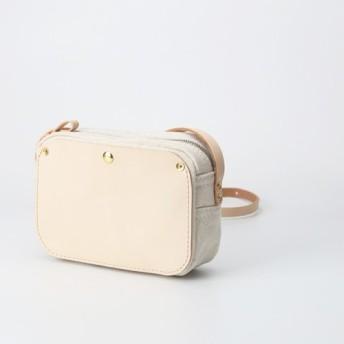 「帆布×革の組み合わせ」手作りのお出かけショルダーバッグ