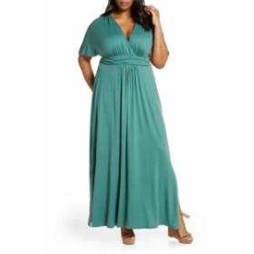 キヨンナ KIYONNA レディース ワンピース ワンピース・ドレス Vienna V-Neck Maxi Dress Matcha Green Tea