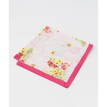 【エニィスィス/any SiS】 【洗える】ボタニカルフラワースカーフ