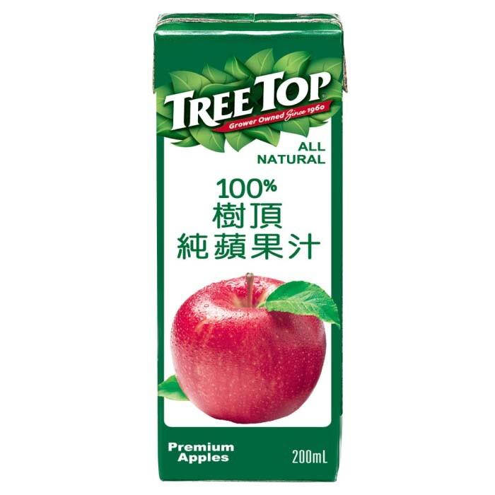 樹頂100%純蘋果汁200ml*24瓶