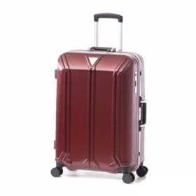 (Bag & Luggage SELECTION/カバンのセレクション)アジアラゲージ スーツケース Mサイズ ストッパー フレーム イケかる 軽量 ALI-1031-24S 62L/ユニセックス レッド