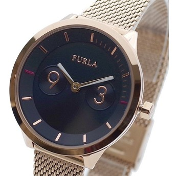 FURLA フルラ 腕時計 レディース R4253102529 METROPOLIS クォーツ ネイビー ローズゴールド