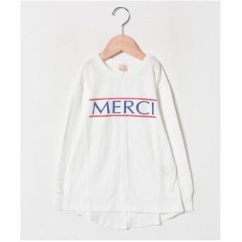 petit main MERCIロゴTシャツ(オフホワイト)【返品不可商品】