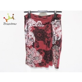 デシグアル Desigual スカート サイズM レディース レッド×黒×白 花柄 新着 20190807