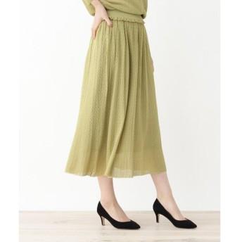 grove / グローブ ◆レーヨンすかし編みニットスカート