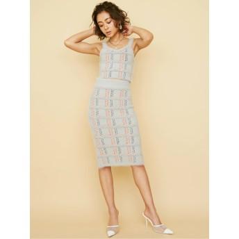 [GYDA]シャギーチェックタイトスカート