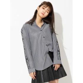 セシルマクビー CECIL McBEE 【KAPPA】BIGシャツ (ブラック)