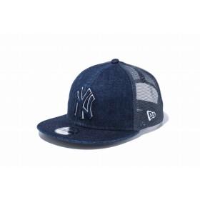 【ニューエラ公式】キッズ 9FIFTY トラッカー ジャパンデニム ニューヨーク・ヤンキース ウォッシュドデニム × ミッドナイトネイビー スノーホワイト 男の子 女の子 52 - 55.8cm MLB キャップ 帽子 12108297 NEW ERA メッシュキャップ