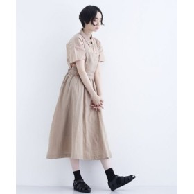 (merlot/メルロー)麻混ジャンパースカート/レディース ベージュ 送料無料
