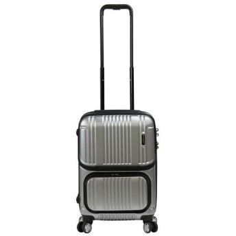 カバンのセレクション バーマス スーツケース 機内持ち込み フロントオープン トップオープン 軽量 Sサイズ 35L USB BERMAS 60279 ユニセックス シルバー フリー 【Bag & Luggage SELECTION】