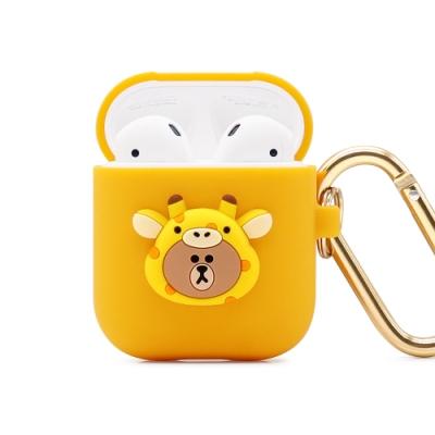GARMMA LINE FRIENDS AirPods 1&2代耳機盒保護套 長頸鹿熊大