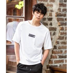 シフォン AKM Contemporary(エイケイエムコンテンポラリー)ボックススパンコールTシャツ メンズ ホワイト S 【SHIFFON】