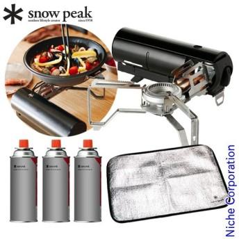 スノーピーク HOME&CAMPバーナー ブラック セット SPK0-NSET-201908B キャンプ用品