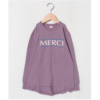 petit main MERCIロゴTシャツ(パープル)【返品不可商品】
