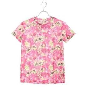 ルコックスポルティフ le coq sportif レディース 半袖機能Tシャツ ハンソデシャツ QMWNJA31MA (ピンク)