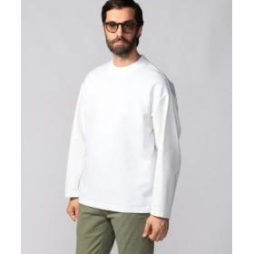 (TOMORROWLAND/トゥモローランド)ダブルニットコンビ クルーネックデザインプルオーバー/メンズ 11ホワイト