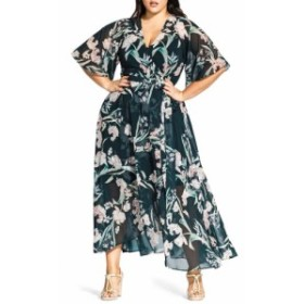 シティーシック CITY CHIC レディース ワンピース ワンピース・ドレス Fresh Fields Maxi Wrap Dress Fresh Fields