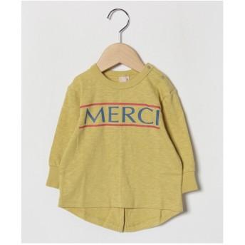 petit main MERCIロゴTシャツ(イエロー)【返品不可商品】