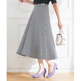 スタクロ 千鳥フレアースカート (大きいサイズレディース)スカート,plus size