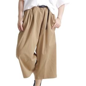 [マルイ] 大きいサイズ レディース パンツ ツインバルーン ガチャベルト タック ウエストゴム/ゴールドジャパン(大きいサイズ)(GOLDJAPAN)