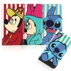 【Disney 】iPhone 6/6s 時尚彩繪人物隱磁側掀皮套