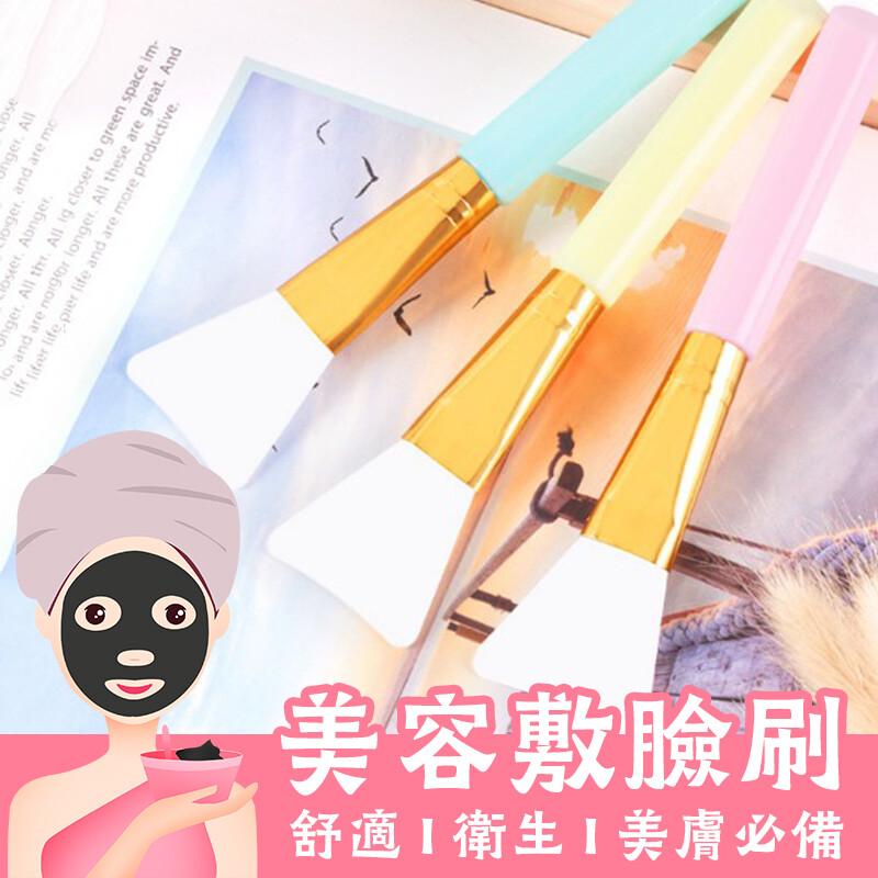 買一波矽膠面膜刷美容攪拌棒刮勺挖棒敷臉刷美容刷 刷具 顏色隨機出貨z90719