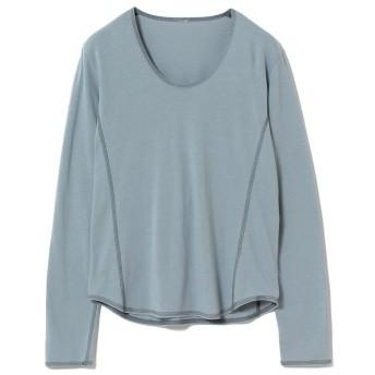ビームス ウィメン RBS / 配色 ステッチ Uネック Tシャツ レディース BLUE - 【BEAMS WOMEN】