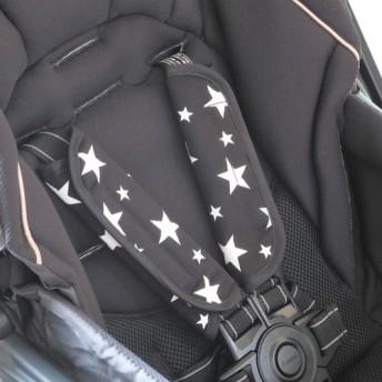 ベビーカー チャイルドシート用ベルトカバー 星柄 スター