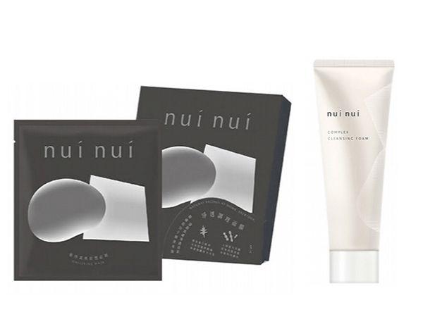 NuiNui~炭纖維清潔面膜(5片入)盒裝+NuiNui~胺基酸活膚潔面乳(120ml) 組合款【D500090】