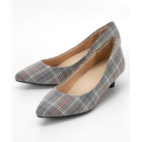 定番ポインテッドトゥ5.0cmヒールパンプス(低反発中敷き) パンプス, Pumps, 浅口皮鞋, 淺口皮鞋