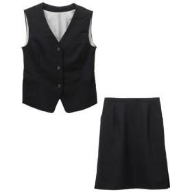 【事務服。ベストスーツ】2点セット(ベスト+タイトスカート)(選べる2レングス) (大きいサイズレディース)事務服,women's suits ,plus size