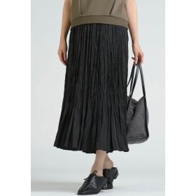 MAYSON GREY 【socolla】サテンワッシャープリーツスカート その他 スカート,ブラック