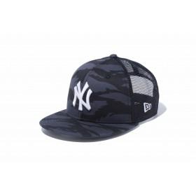 【ニューエラ公式】キッズ 9FIFTY トラッカー ニューヨーク・ヤンキース タイガーストライプカモグラファイト × スノーホワイト 男の子 女の子 52 - 55.8cm MLB キャップ 帽子 12108299 NEW ERA メッシュキャップ