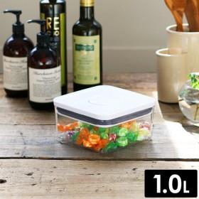 密閉 密封 透明容器 コンテナ 乾物ストッカー おしゃれ 食品保存容器 ストック スタッキング [ OXO / オクソー ポップコンテナ2 ビッグスクエア ミニ ]