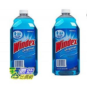 [8美國直購]Windex spray cleaner玻璃清潔劑 美國強生 990ml 2入裝