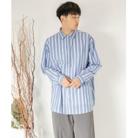 (SENSE OF PLACE/センスオブプレイス)ストライプルーズシャツ/メンズ BLUE
