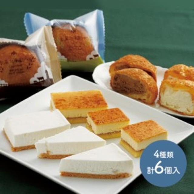 【送料無料】 乳蔵 北海道 シュークリーム 焼き プリン チーズ ケーキ レアチーズケーキ 4種類 計4個 セット ミルク チョコ プレゼント