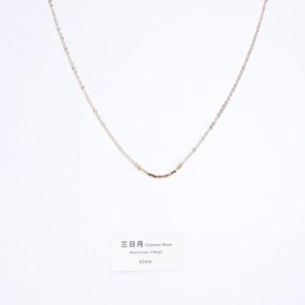 送料無料【14kgf】三日月ネックレス / 槌目 / mini / チェーン スマイル シンプル 華奢 アーチ