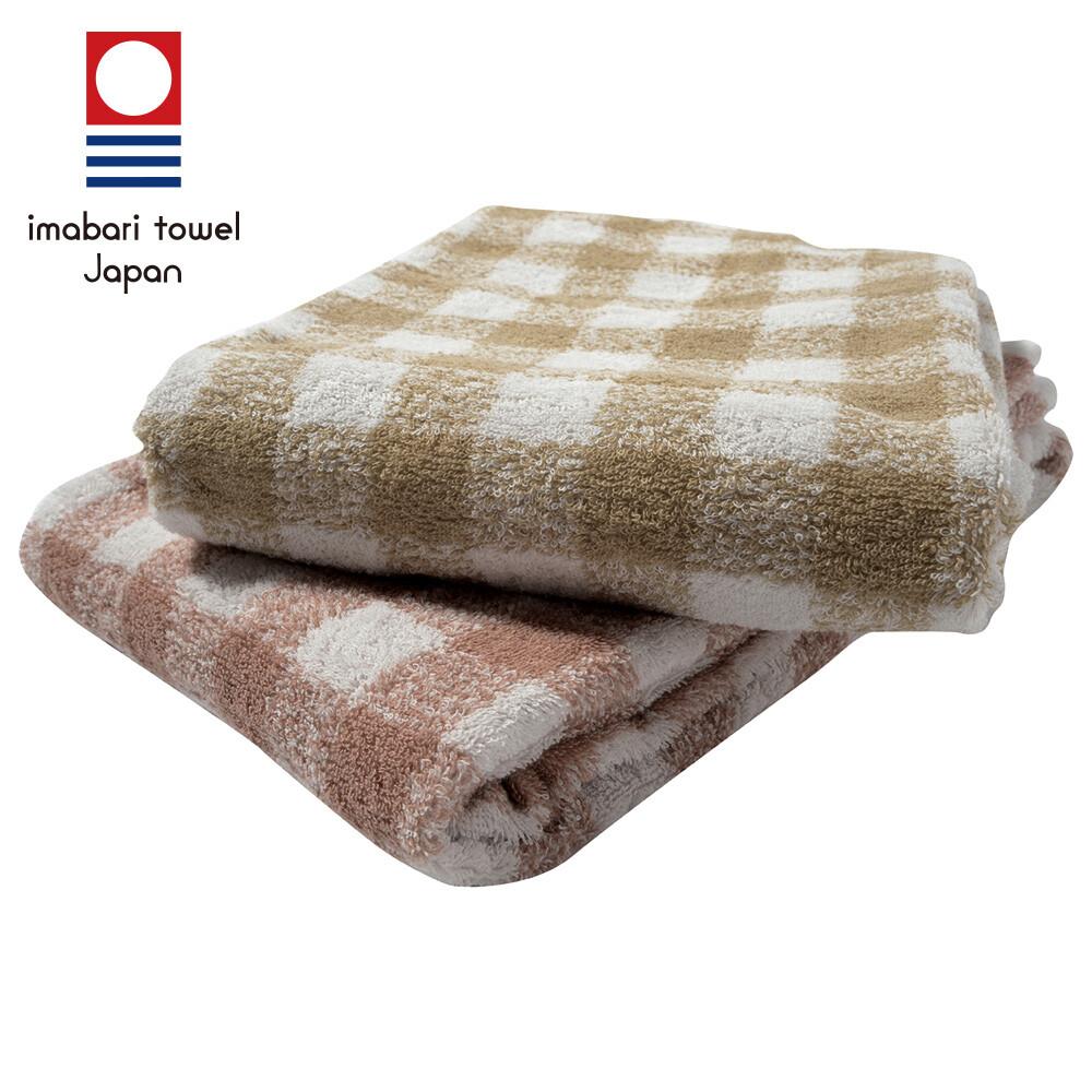 日本今治純天然有機棉無染色浴巾(方格款)my6003