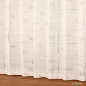 【送料無料】ディズニー レースカーテン ボイルコウシdeミッキー グリーン W100×H133 2枚入【生活雑貨館】