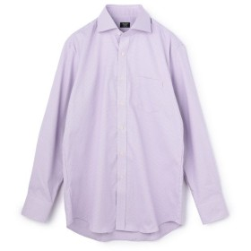 メンズビギ 《吸水速乾/EASY CARE》ワイドカラーシャツ/千鳥格子柄/ナチュラルストレッチ メンズ ラベンダー M 【Men's Bigi】