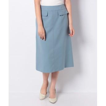 allureville アルアバイル ウールライクフラップAラインスカート