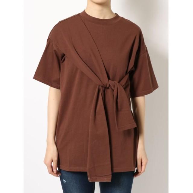 エモダ タイオーバーTシャツ レディース ブラウン F 【EMODA】