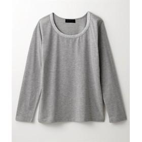 シルバーテープ使い長袖Tシャツ (Tシャツ・カットソー)(レディース)T-shirts